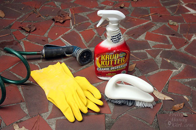 Homemade concrete cleaner for pressure washer for How to clean a garage floor without water