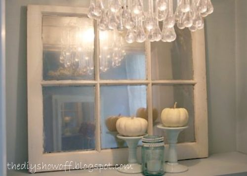 Vintage Window Mirror | 30 Amazing DIY Mirrors