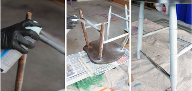 spray painting a chair1