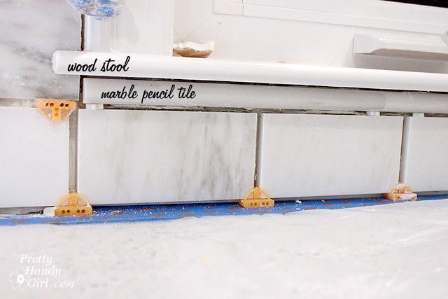 How to Install a Tile Backsplash (Tile setting) | Pretty Handy Girl