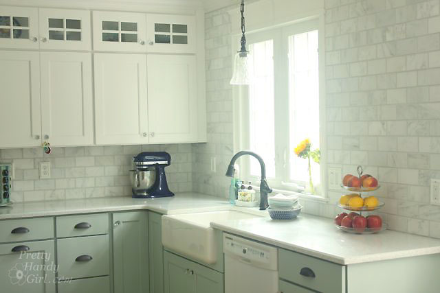 Kitchen Backsplash By Window how to tile a backsplash - part 1: tile setting - pretty handy girl