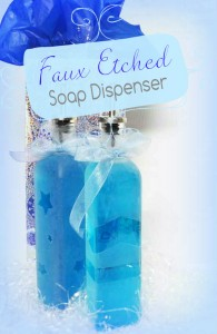 Faux Etched Soap Dispenser