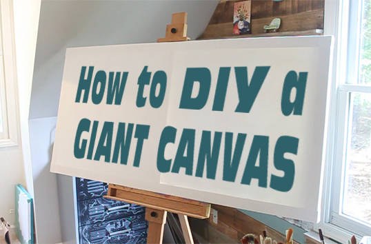 diy a giant artist canvas pretty handy girl. Black Bedroom Furniture Sets. Home Design Ideas