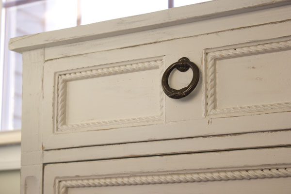 How to replace decorative trim on furniture.