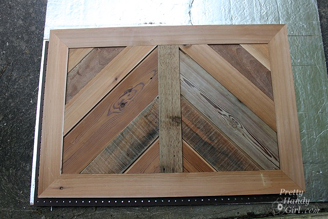 Build a fireplace insert draft stopper a lowes creator idea build a fireplace insert draft stopper with reclaimed lumber pretty handy girl solutioingenieria Choice Image