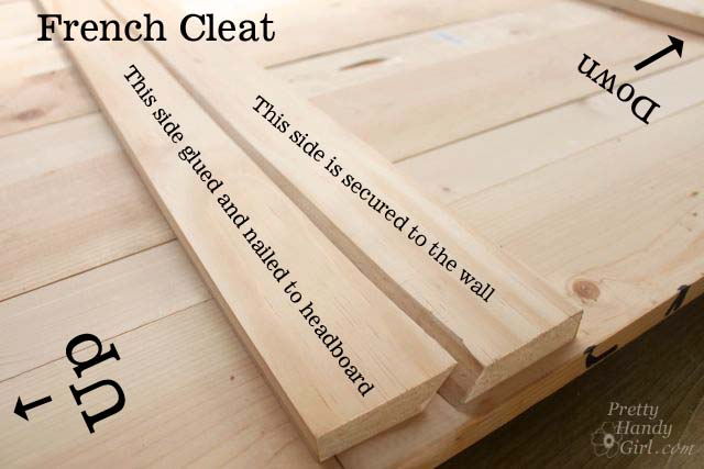 french cleat and How to Create a Rustic Wood Headboard for $80   Pretty Handy Girl