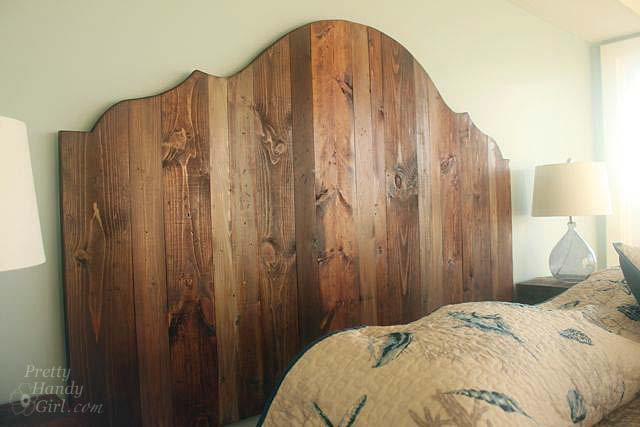 How to Create a Rustic Wood Headboard for $80 | Pretty Handy Girl