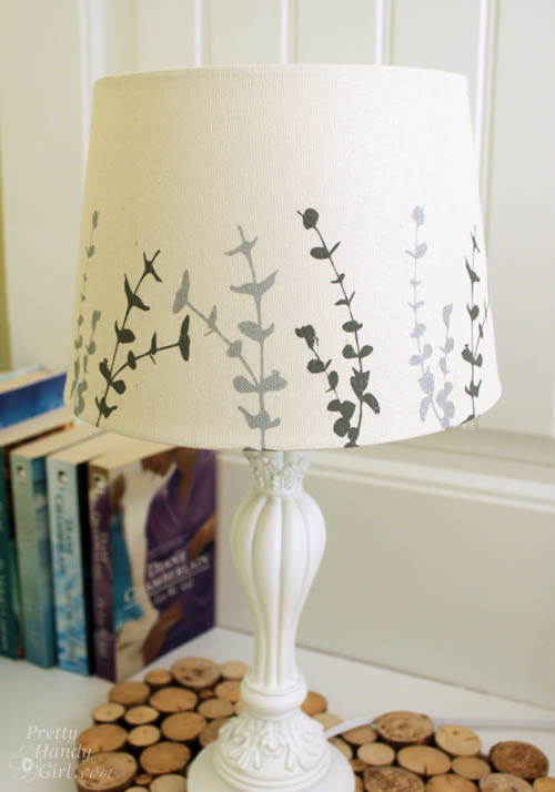 painted lampshade and a quick guest room makeover lowe 39 s