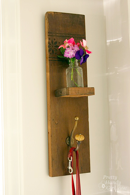 Reclaimed Wood Wall Hook Vase by Pretty Handy Girl