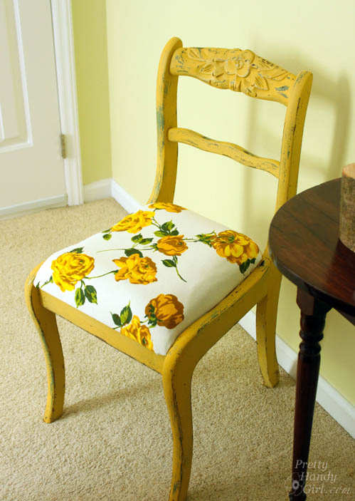 Mustard Seed Yellow Chair | Pretty Handy Girl