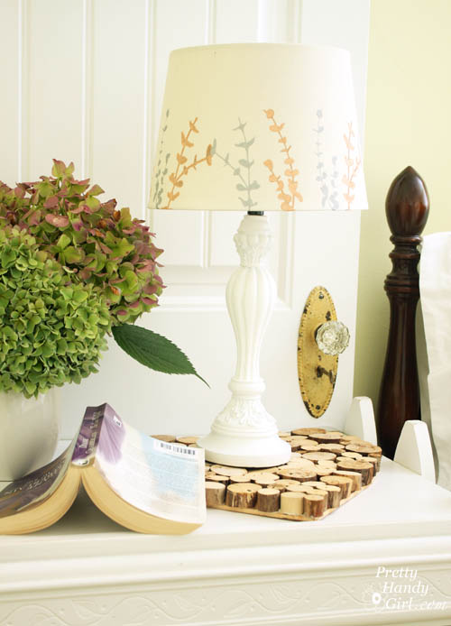 Painted Lampshade & a Quick Guest Room Makeover   Pretty Handy Girl
