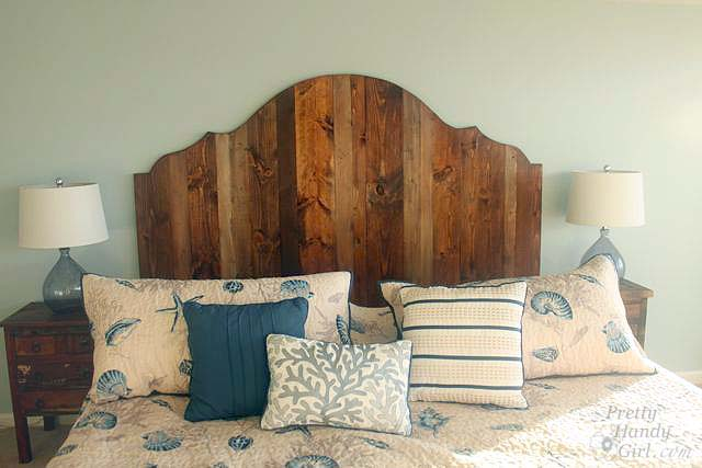 make your own headboard how to create a rustic wood king headboard pretty handy 31419