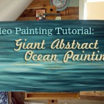 Abstract Art Ocean Painting Tutorial {Video Tutorial}