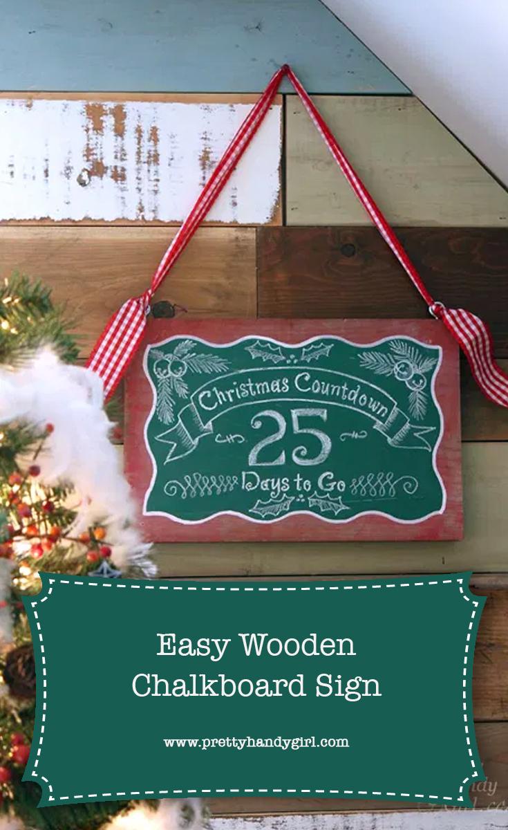 DIY Countdown to Christmas Sign | Pretty Handy Girl
