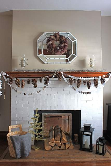 Garland-on-Mantel