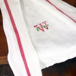 Faux Cross Stitch Tea Towel