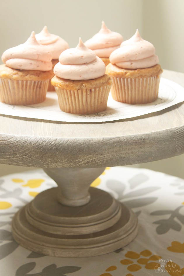 Rustic Wood Cake Stand | Pretty Handy Girl