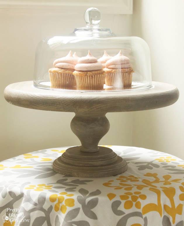 diy rustic cake stand