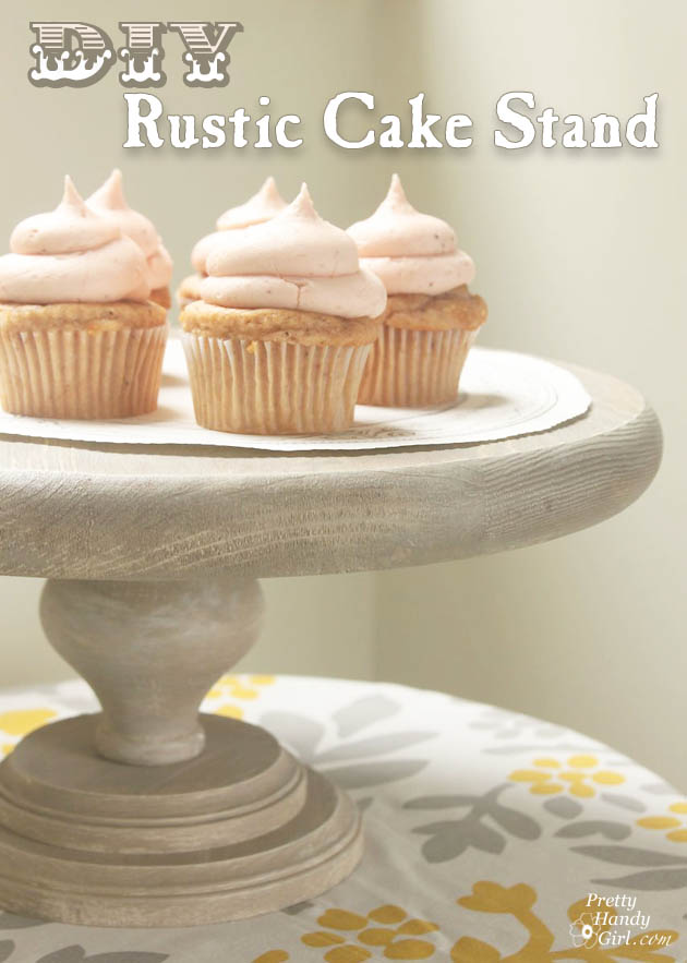 Rustic Wood Cake Stand Pretty Handy Girl