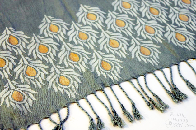 Stenciled and Dyed Scarves Tutorial | Pretty Handy Girl