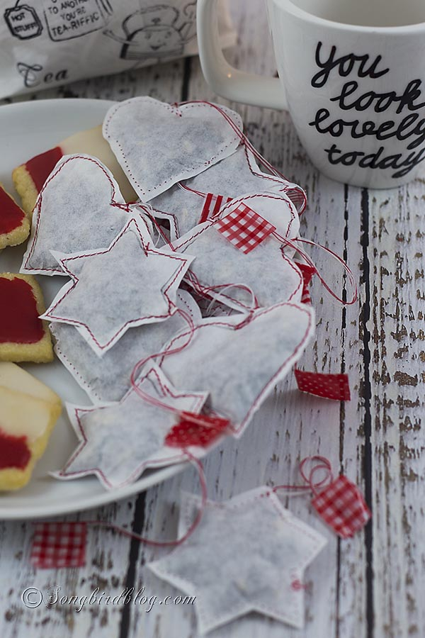 cute shape tea bags
