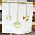 Hanging Ornaments Table Runner by At the Picket Fence