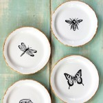 Pen & Ink Sketch Decorative Plates