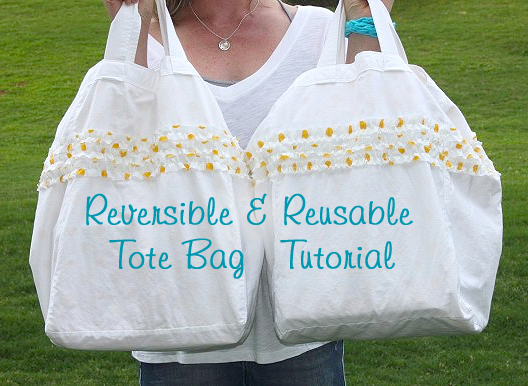 Reversible Reusable Tote Bag Sewing Tutorial | Pretty Handy Girl