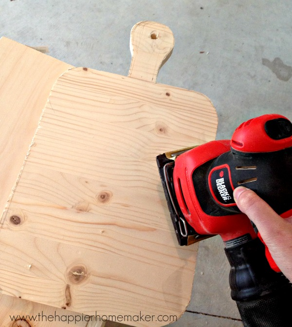 sanding cutting board