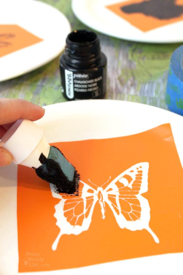 Pen and Ink Sketch Decorative Dessert Plates   Pretty Handy Girl