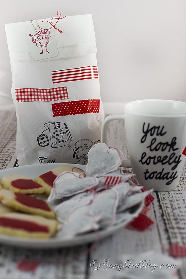 Homemade Tea Bags gift with cookies