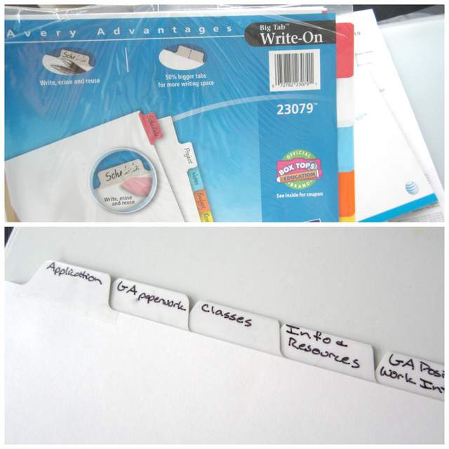 Write On Label Dividers