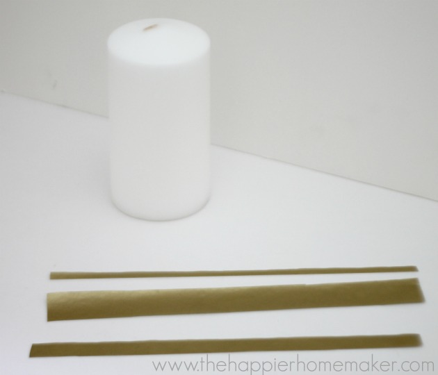 decorating candle tissue paper