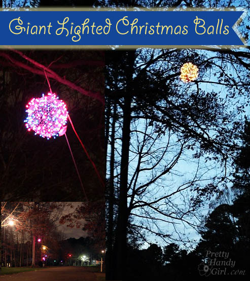 Hanging Outdoor Christmas Lights Youtube: How To Make Giant Lighted Ornament Balls