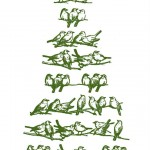 Merry Christmas Vintage Bird Tree