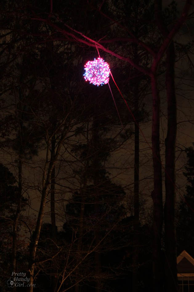 giant lighted christmas ball tutorial pretty handy girl - Christmas Light Balls For Trees