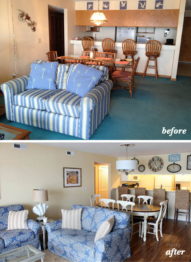 Bedroom Renovation Before And After topsail beach condo renovation - pretty handy girl