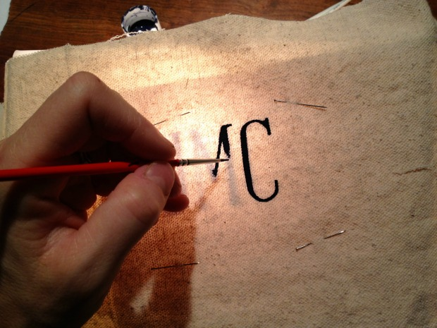 canvas tote monogram 1