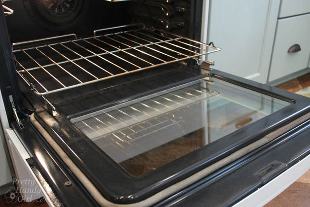 How to Clean Inside Your Oven Door | Pretty Handy Girl