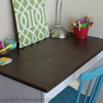Desk Makeover {Paint Stripping with Citristrip & Painting with Latex Enamel}