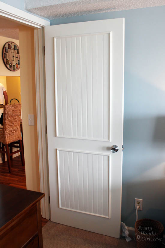 How To Add Molding Panels A Flat Door Pretty Handy Girl