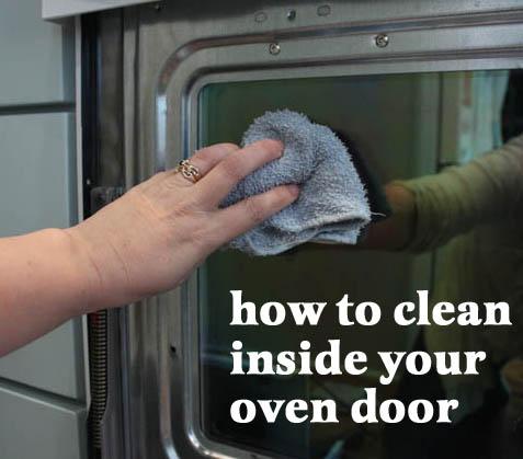 How to Clean Inside Your Oven Door | Pretty Handy Girl