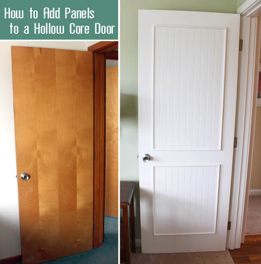 & How to Add Molding Panels to a Flat Door - Pretty Handy Girl