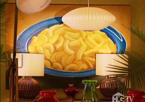 David Bromstad's Mac & Cheese Painting