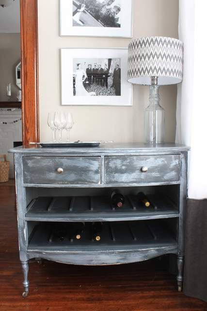 Create a Unique Wine Rack From an Old Dresser