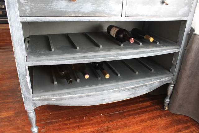 Unique Wine Rack Distressed Finish