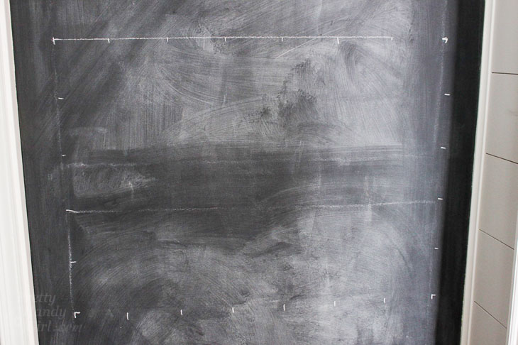 chalk grid lines created