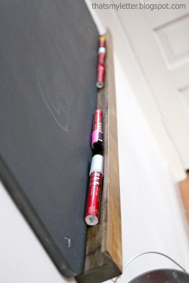 chalkboard with ledge