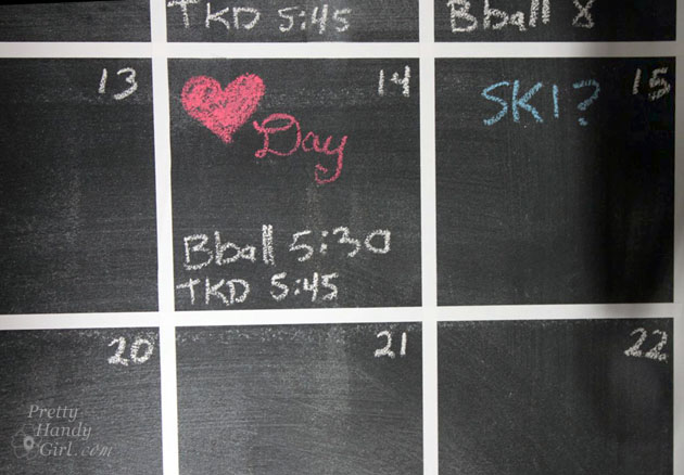 DIY Chalkboard Calendar | Pretty Handy Girl