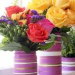 Simple Vases using Radiant Orchid {Lowe's Creative Idea}